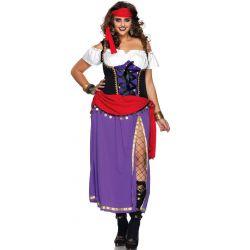 """Disfraz de """"Princesa Gitana"""" en talla grande de Leg Avenue"""