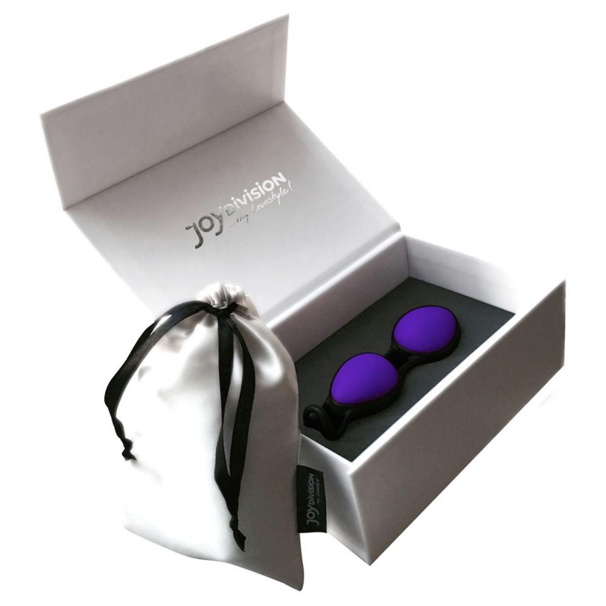 Bolas Chinas púrpura dúo con loop de retracción patentado