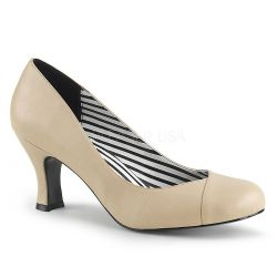 Zapatos de tacón polipiel estilo clásico en tallas grandes de 40 a 48