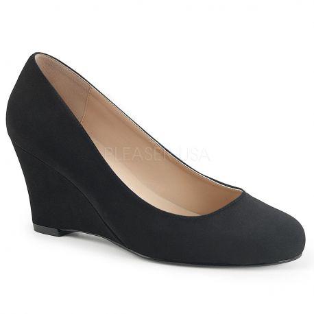 Zapatos clásicos Nobuck y tacón cuña en tallas grandes desde 40 a 48