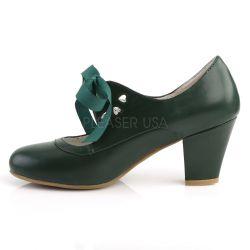 Zapatos colección Pin Up tacón bajo estilo Mary Jane con cinta al frente