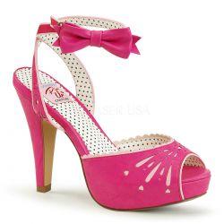 Sandalia plataforma Pinup Couture Bettie-01 de polipiel linea vintage