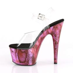 Sandalias Pleaser de Pole Dance con estampado animal print de serpiente