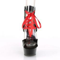 Sandalias plataforma DELIGHT-600-14FH con caña abierta charol brillante