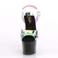 Pole dance SKY-320MMR Sandalias con vinilo transparente efecto multicolor