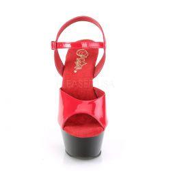 Pole dance KISS-209 sandalias plataforma media en charol brillante