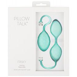 """Dúo de bolas chinas azul """"Pillow Talk Frisky"""" con cristal de Swarovski"""