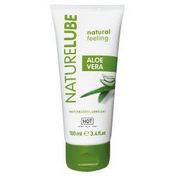 "Lubricante aloe vera 100ml para pieles sensibles a base de agua ""HOT Nature"""