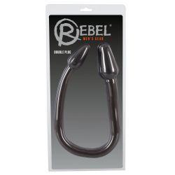 """Doble plug para el ano y la vagina de 78 cm con un eje curvado""""Double Plug"""""""