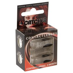 "Lentes de contacto de color negro ""Contact Lenses"" en alta calidad. 1 par"