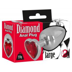"Plug anal large de aluminio ""You2toys"" con peso 159 g y largo total 9,4 cm"