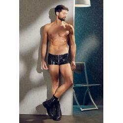 """Pantalones cortos de vinilo para hombres. Estilo motorista """"Black level"""""""