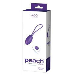 """Huevo vibrador recargable """"VeDO Peach"""". Con control remoto y 10 vibraciones"""