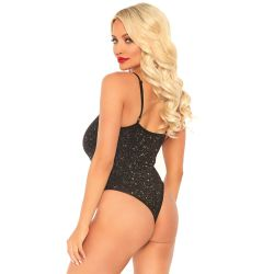 "Body de tirantes ajustable en tejido lurex brillante: ""Leg avenue"""