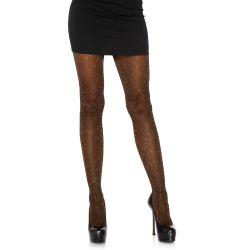 Panty negro/rosa opaco Leg Avenue de lurex con particulas brillantes