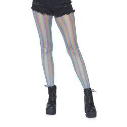 """Pantys de rejilla """"Leg avenue"""" elaborado en tejido lurex efecto arco iris"""