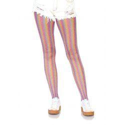 """Pantys rosa multicolor de rejilla """"Leg avenue"""" elaborado en tejido lurex"""