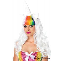 Kit de 2 piezas de unicornio con peluca larga más cola arcoiris