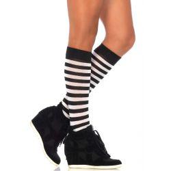 Calcetines hasta la rodilla con rayas horizontales