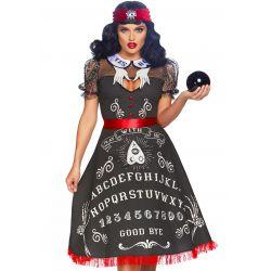 Disfraz de vidente del futuro 2 pzs. Vestido swing y cinta de pelo con ojo