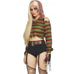 Disfraz de halloween asesina de sueños Leg avenue. Compuesto por 3 piezas