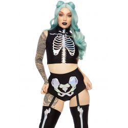 """Disfraz 2 piezas de esqueleto holográfico de la marca """"Leg Avenue"""""""