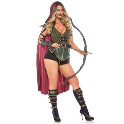 Disfraz de mujer Robin Hood encantadora. Compuesto por 3 piezas