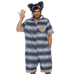 """Disfraz de Lobo Feroz """"Leg avenue"""". Mono de cuerpo entero con estampado"""