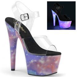 Sandalias con plataforma ADORE-708REFL efecto reflectante Galaxy