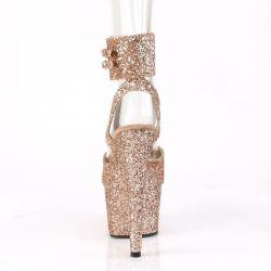 Sandalias exóticas ADORE-791LG con correa ancha y cubierta de Glitter