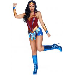 Disfraz 3 piezas Leg Avenue de Heroina Super Woman. Talla XS hasta L