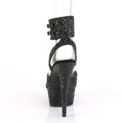 Sandalias Pole dance con plataforma media DELIGHT-691LG cubierto de glitter