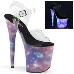 Sandalias Pole Dance extra alta efecto reflectante Galaxy FLAMINGO-808REFL