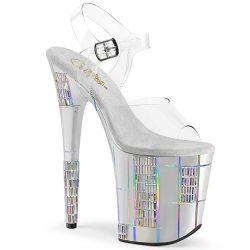 Sandalias extra alta con diseños de diamantes de imitación rectangulares
