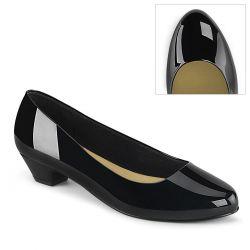 Zapatos de tacón bajo 3 cm GWEN-01 fabricados en charol brillante T-40 a 48