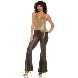 """Disfraz """"Leg Avenue"""" de diva del Disco de los años 70. 2 piezas"""
