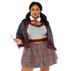 """¡Tallas hasta 3XL! Disfraz 2 piezas estudiante de hechicería """"Leg Avenue"""""""