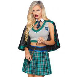 ¡Talla S hasta L! Disfraz sexy estudiante de magia 3 piezas Leg avenue