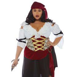 "Disfraz pirata del Mar Feroz en tallas grandes de la marca ""Leg Avenue"""