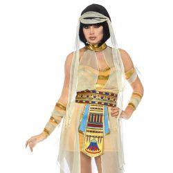 """Disfraz Dorado 5 piezas de Momia del Nilo """"Leg Avenue"""". Talla S hasta L"""