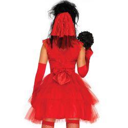 Disfraz 2 piezas de Novia psicópata para halloween. Talla S hasta XL