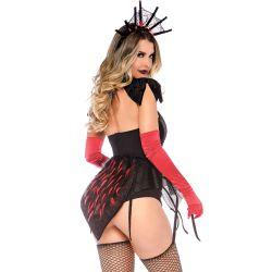 "Disfraz de Halloween Reina de las Arañas sexy ""Leg Avenue"". 3 piezas"