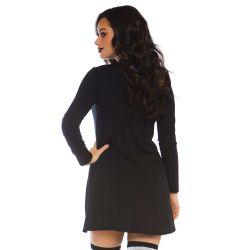 """Vestido negro de algodón para halloween de la marca """"Leg Avenue"""""""