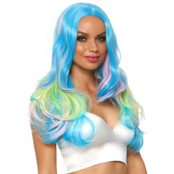 Leg Avenue peluca larga sintética con tonos místicos para disfraces
