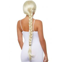 Leg Avenue peluca extra larga de color rubia con doble trenzado