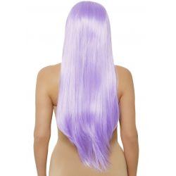 Peluca sintética de pelo liso extra largo con raya en el medio. 5 colores