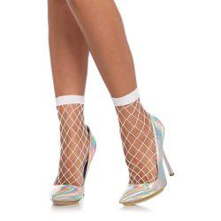 Calcetines cortos de redecilla con perforaciones grandes y puntera abierta