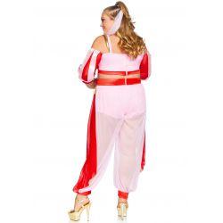 Disfraz en tallas grandes de genio ensueño para carnaval. 3 piezas