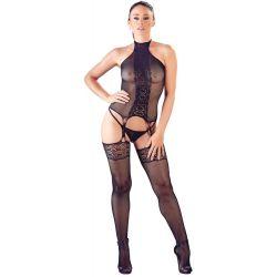 ¡Cómodo, emocionante y muy sexy!.. Conjunto de red elástico con medias