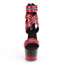 Sandalias abiertas estilo botín ADORE-766 con detalle de cremalleras